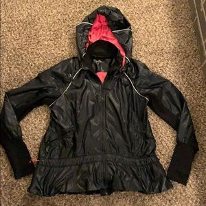 Womans Black hooded ZELLA Jacket size MEDIUM